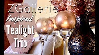 DIY Candle Holders | Dollar Tree Room Decor | Z Gallerie Inspired Candles