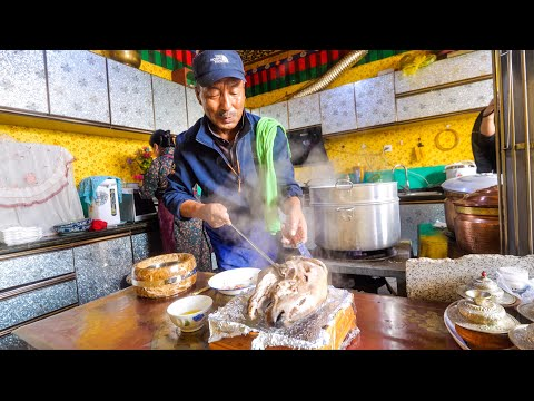 Huge Tibetan Food - 11 Traditional Dishes in Lhasa, Tibet!