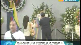 Trasladan restos del expresidente Jaime Lusinchi al Cementerio del Este