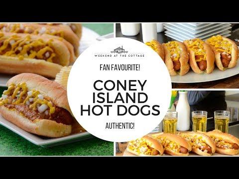 Ultimate CONEY ISLAND HOT DOGS Recipe! CHILI DOGS |