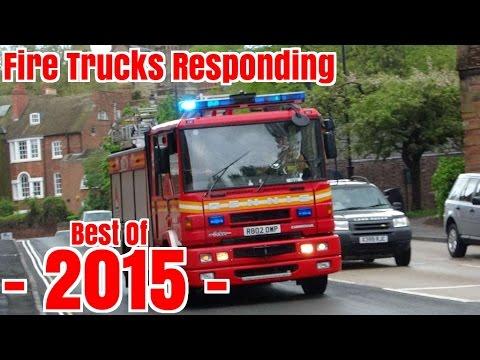 Fire Trucks Responding - BEST OF 2015 -