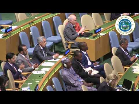 President Weah Addresses the Nelson Mandela Peace Summit at the UN General Assembly. new York