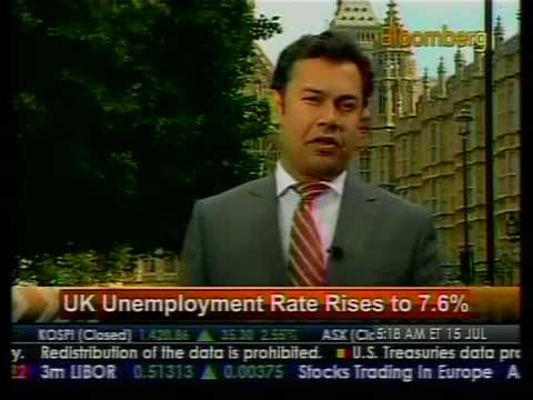 UK Unemployment Rate Rises To 7.6% - Bloomberg