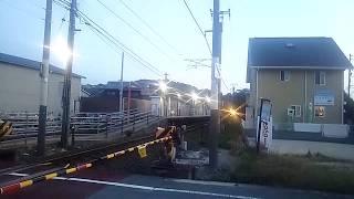 JR四国 光洋台駅 伊予西条行き7000系(更新インバーター有)普通列車 発車