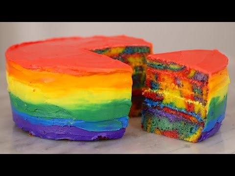 How to Make a Double Rainbow Cake! Gemma's Bigger Bolder Baking Ep 57 (FIRST BIRTHDAY EPISODE)