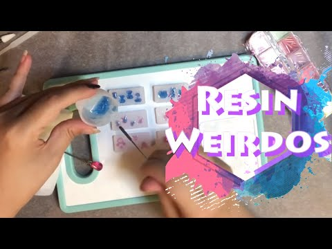 Making tiny charms/ inclusions / embellishments from nail art moulds | uv resin