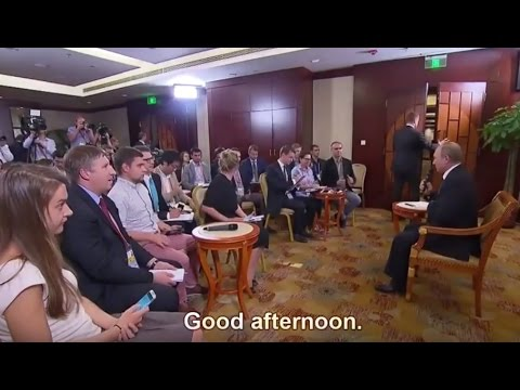 EXCLUSIVE: Putin's G20 press conference on USA, Obama, Syria, Japan, China, EU and Global Economy
