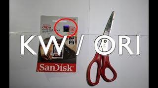 Memory SDCARD Sandisk KW atau Ori? Cari Tahu Disini