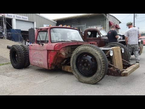 1961 Ford F600 Rat Rod Dually Truck - Beatersville - YouTube