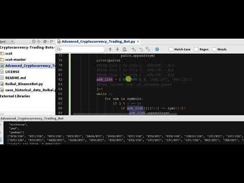 Coding Arbitrage Python Function 5 - Arbitrage Cryptocurrency Bot In Python  - Code  - Ch 5.21