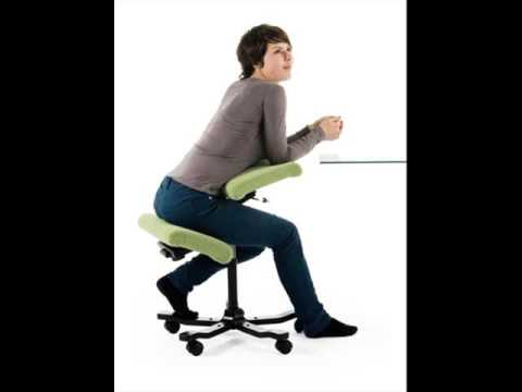 Posture Kneeling Chair ergonomic kneeling chairs - youtube