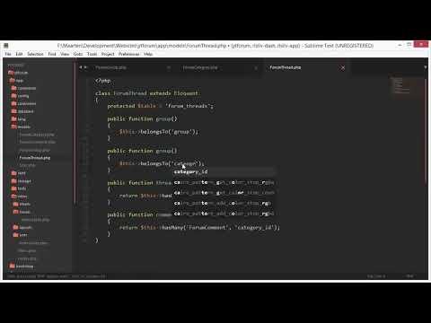 PHP Beginner Tutorial  Laravel Forum Software Part 9