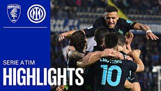 EMPOLI 0-2 INTER | HIGHLIGHTS | SERIE A 21/22 | Nerazzurri see off the Azzurri ⚽🔵⚫🔵