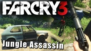 Far Cry 3 - Jungle Assassin - Stealth Gameplay(You never know anything, until a maniac runs at you with a machete.. Facebook: http://www.facebook.com/Robbazking Twitter: http://twitter.com/#!/RobbazTube., 2012-12-01T21:04:29.000Z)