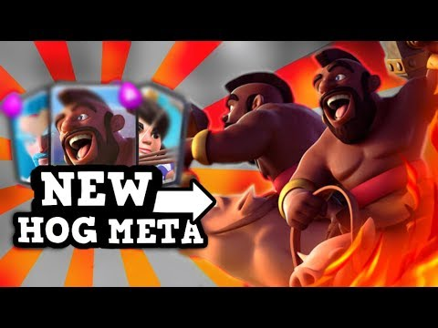 NEW META HOG DECKS!! :: ft. PONG!!! :: Clash Royale (This guy is a BEAST!)