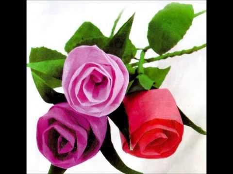 Video Cara Membuat Bunga Mawar Dari Kertas Krep Youtube