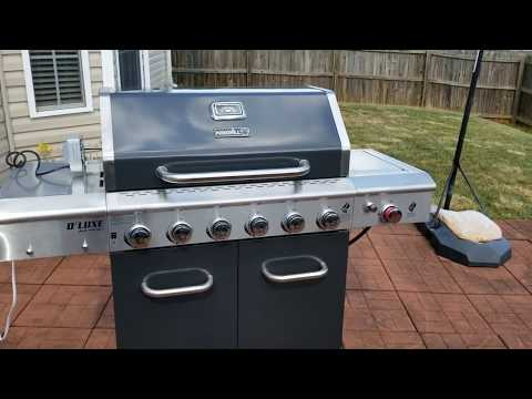 Nexgrill Deluxe 6 Burner Propane Gas Grill With Ceramic Searing Side Burner Home Depot