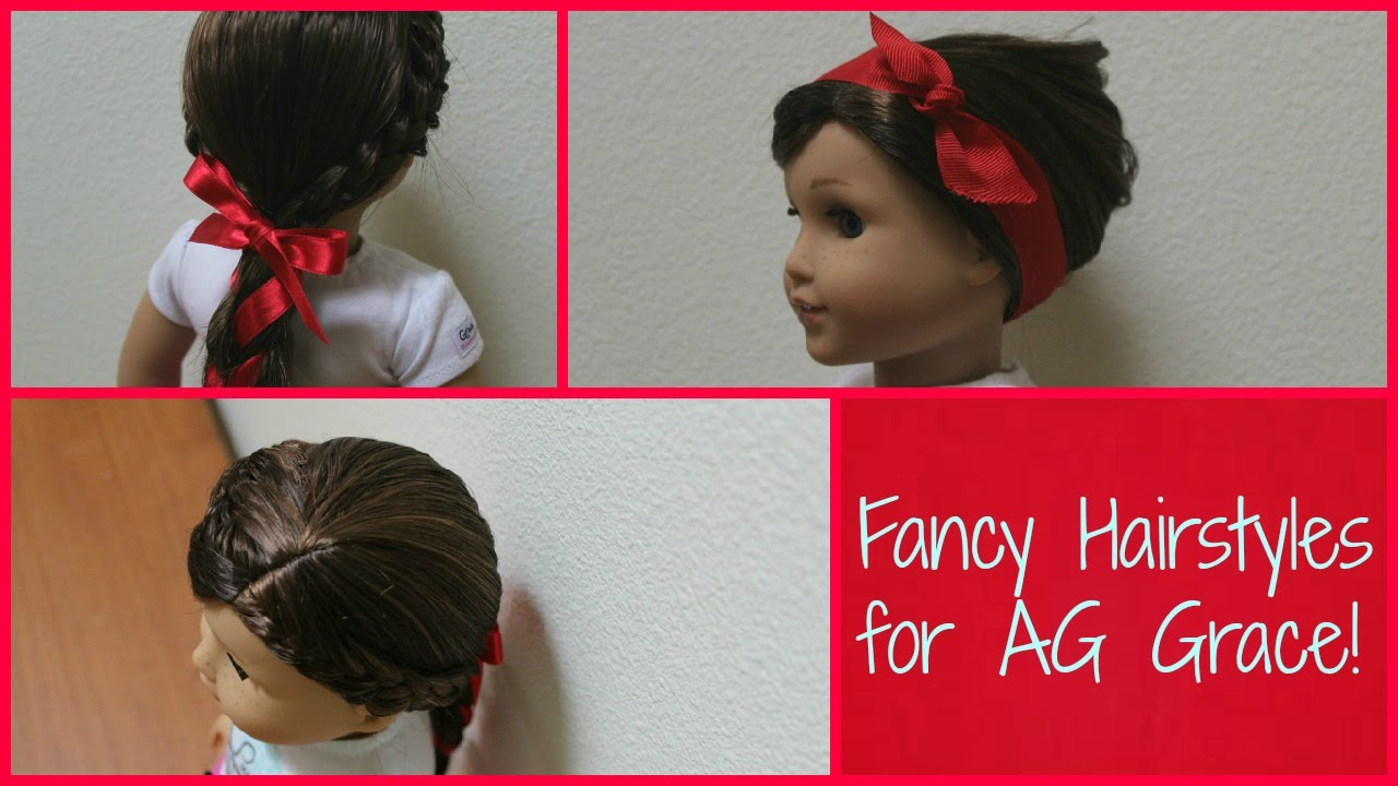 Fancy Hairstyles For Grace GOTY YouTube - Doll hairstyles for grace