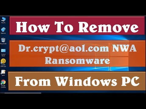 How To Remove Dr crypt@aol com NWA Ransomware Virus Completely From Your PC