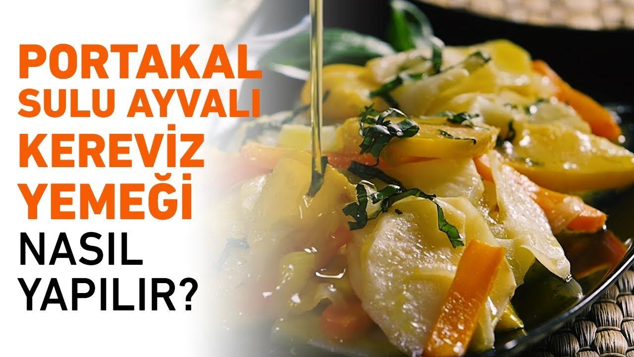 Ayvalı Portakal Sulu Kereviz Tarifi - 185 Kalori