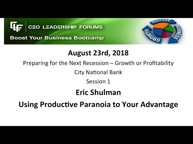 2018 08 23 CEO Leadership Session 01 Shulman