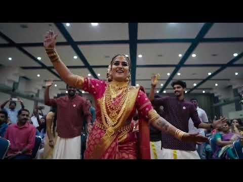 Kerala wedding  full version #bride #entry #dance  #mammattiyan #2020 #Akhila & #sree #weddingdance