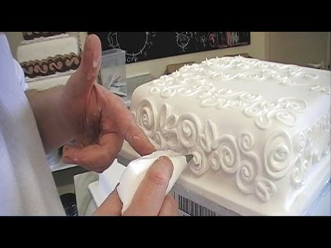 CAKE DECORATING ROYAL ICING PIPING TECHNIQUES / HOW TO ...