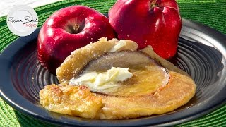 How to Make Apple Pancakes with an Iron at the Sea | IRON COOK