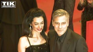 Berlinale 2016: George Clooney mit Ehefrau in Berlin umjubelt