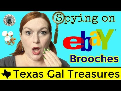Spying on Ebay 2017 - Brooches - What Brooches Sell for Big Bucks - Selling Jewelry on Ebay & Etsy