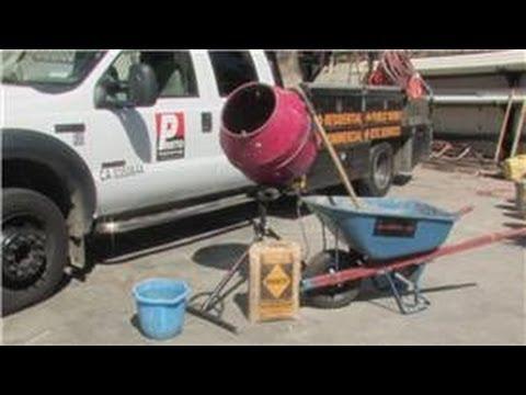 Concrete & Masonry : How to Use a Concrete Mixer