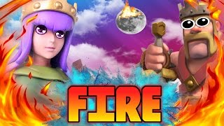 "CLASH OF CLANS -HOW TO SET FIRE TO THE TOWN HALL""FUNNY MOMENTS+TH10/TH9 TROOP TROLL""(NEW COC UPDATE)"