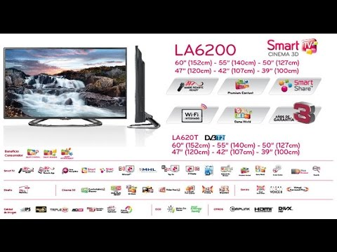 Smart TV LED 3D 42 LG 42LA6200 3/4