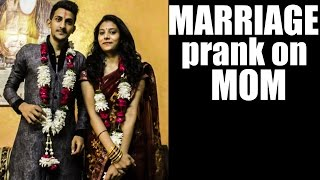 MOM I GOT MARRIED | MARRIAGE PRANK ON MOM | AVRprankTV