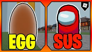 How to get the &quotEGG SIREN HEAD&quot AND &quotSUS&quot BADGES + SKINS in TREVOR CREATURES KILLER 2  Roblox