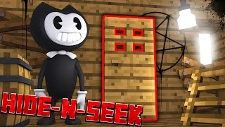 SECRET NEW ROOM?! Minecraft Bendy HIDE N SEEK