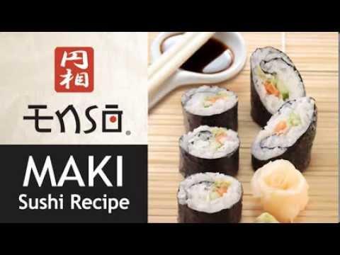 sushi maki recipe with enso sushi kit youtube. Black Bedroom Furniture Sets. Home Design Ideas