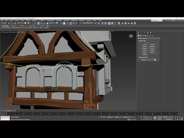 Medieval House Timelapse - Part 4: Beams and Walls