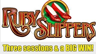 BIG WIN! RUBY SLIPPERS SLOT MACHINE-3 sessions