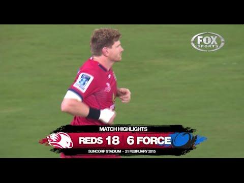 St.George Queensland Reds v Western Force - Scoring plays