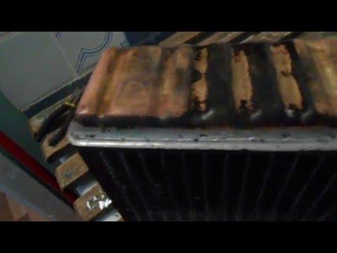 Результат запайки радиатора печки CARIB AE95.