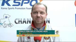50m Rifle Prone Men Interview - ISSF World Cup Series 2011, Rifle & Pistol Stage 3, Changwon (KOR)