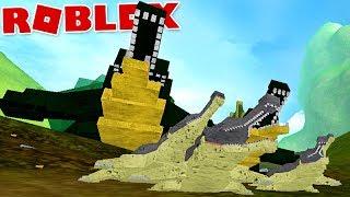 "Dinosaur Simulator (Roblox)-Great hunters, carnivorous ""Sarcosuchus""-(#27) (Gameplay EN-BR)"