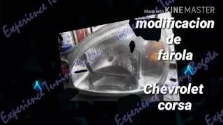 Chevrolet corsa modificacion de farola por EXTUNBOG смотреть