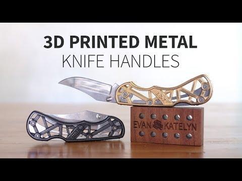 3D printed steel knife handle   Part 1: designing & prototyping