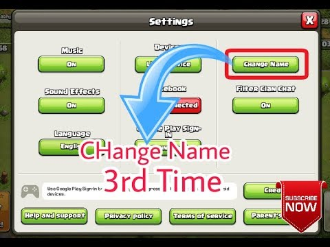 HOW TO CHANGE NAME IN COC 3rd TIME. |CLASH OF CLANS | HINDI|