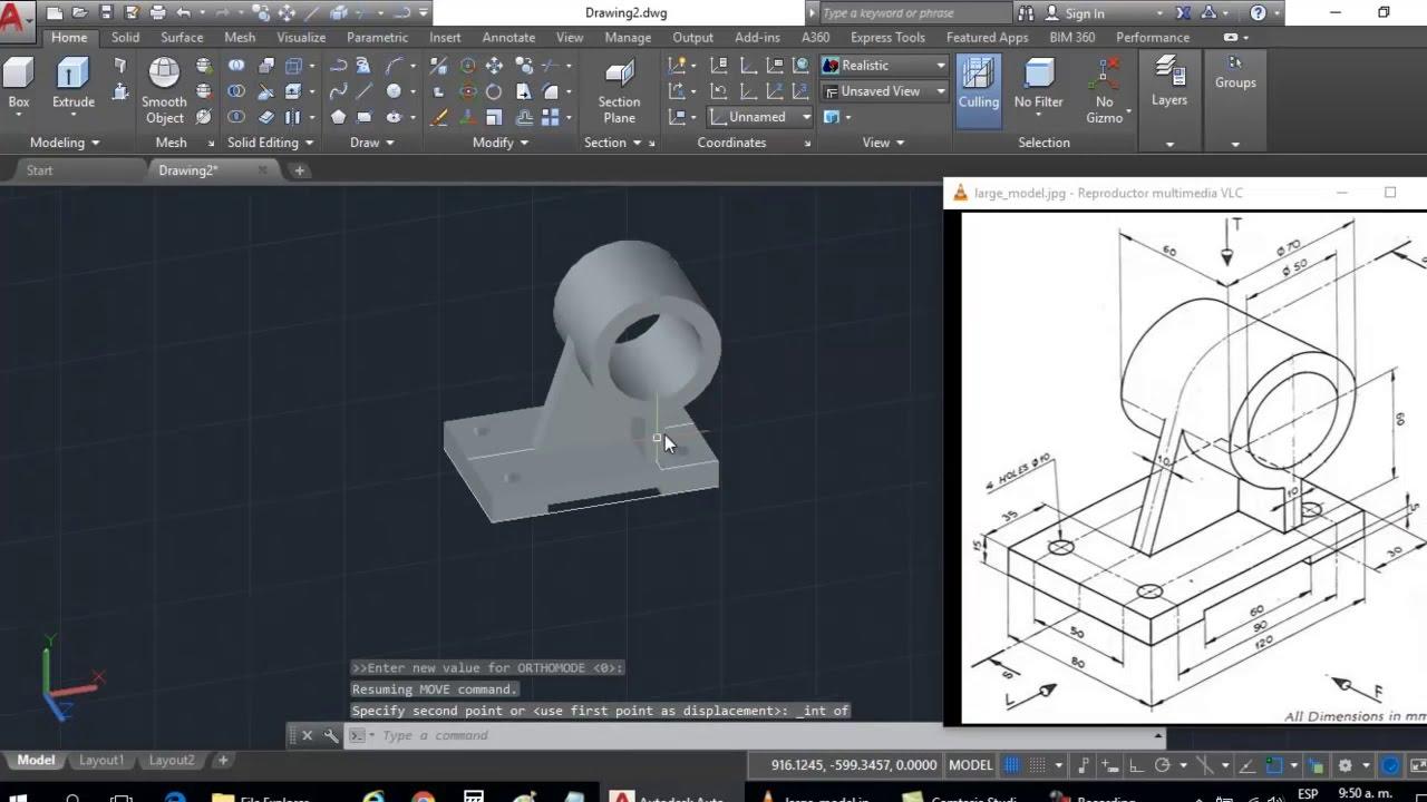 Dibujo 3d en autocad para principiantes modelado de for Programa para crear muebles 3d