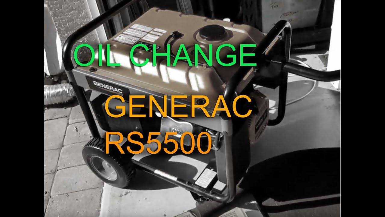 Generator Oil Change  Generac RS5500 (GP5500)