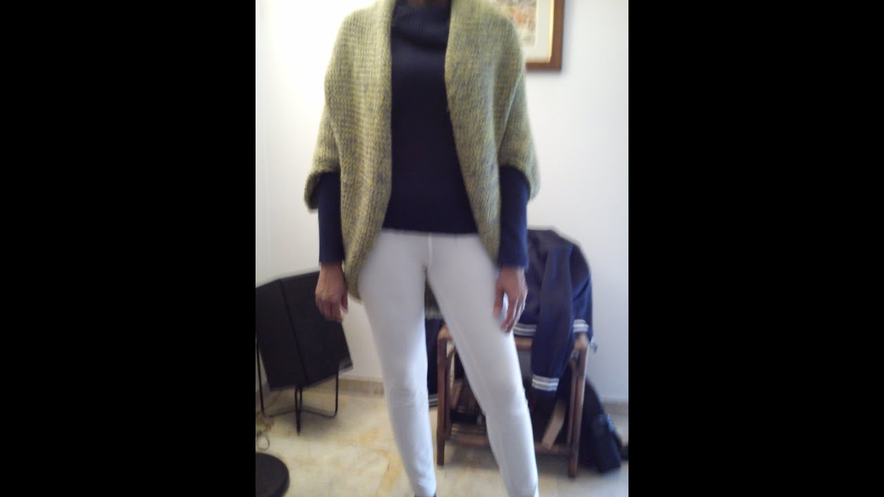Simple mohair Shrug Knitting Loom - YouTube