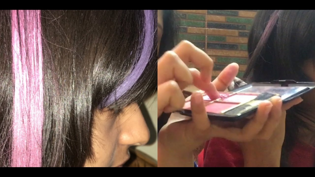 How To Color Hair Temporarily Colored Hair Flicks At Home Youtube